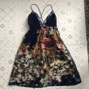 Triangle Top Floral Dress